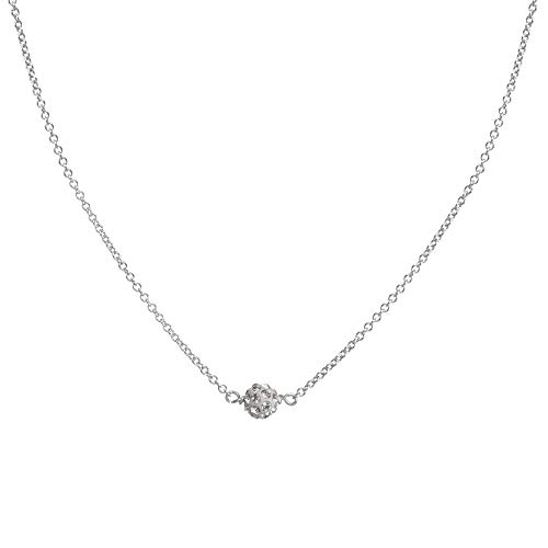 Dogeared Wishing Necklace, Pave Sparkle Ball Necklace Silver One Size