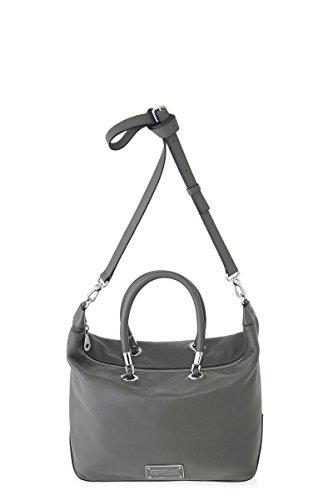 Marc Jacobs New Too Hot To Handle Top Zip Satchel in Faded Aluminum (Marc Jacobs Too Hot To Handle Handbag)