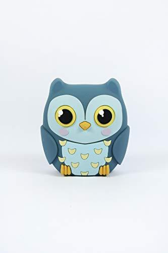 Mojipower Externer Akku für Handy, Power Bank 2600 mAh, lustig, bunt, Design Eule, Baby Owl