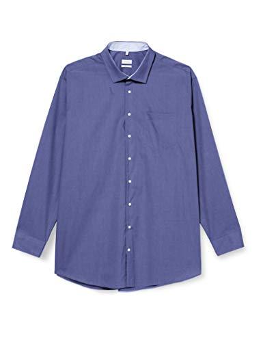 Seidensticker Herren Business Hemd, Blau (Blau), 46