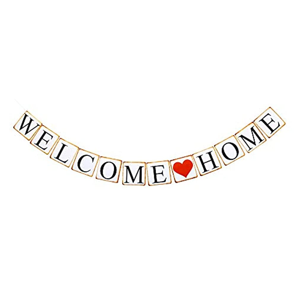 Welcome Home Banner, Paper Sign Decorations for Home Party/New Year/Christmas