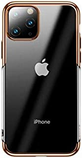 Smart Phone Case Compatible with iphone 11 Pro Max - Clear and Gold Edge