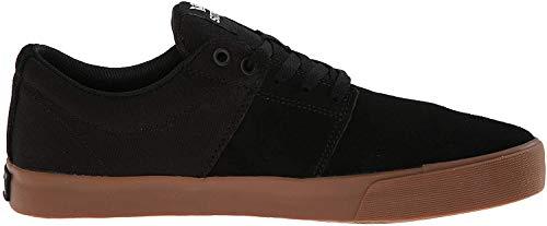 Supra Stacks II Vulc, Zapatillas de Skateboard Unisex Adulto, Negro (Black-Gum-M 55), 42.5 EU