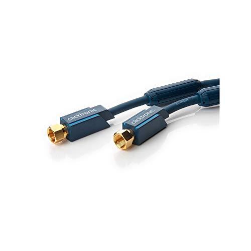 Clicktronic Casual SAT Antennenkabel (F-Stecker/F-Stecker, 95 dB, 7,5m)