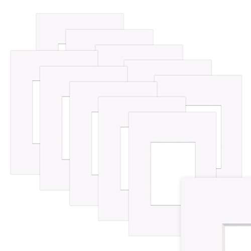 PHOTOLINI 10x Passepartout Weiß 30x40 cm (20x30 cm) Reinweiß