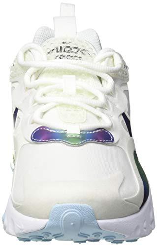 Nike Air MAX 720 React, Zapatillas para Correr Niños, Summit White/Platinum Tint/Bianco/Multicolore, 38 EU