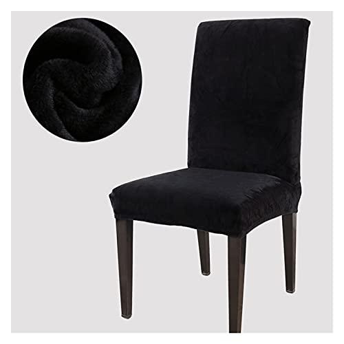 Funda de silla Cubiertas de silla modernas de color sólido grueso de peluche for comedor gruesos follos for la oficina de bodas banquete de polvo a prueba de polvo Durable, fácil de instalar y desmont
