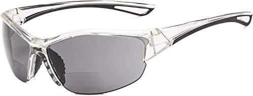 SFHTFTRGJRYJ Medio Cuadro Gafas De Sol Deportivas Vida de Moda Gafas De Sol Bifocales 3.00 Fuerza Lecturas (Color : Colour-37, Size : 1)