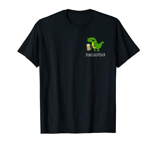 DINOSAUFBIER. Dinosaufier Dino Dinosaurier Bier AM PM Fun T-Shirt