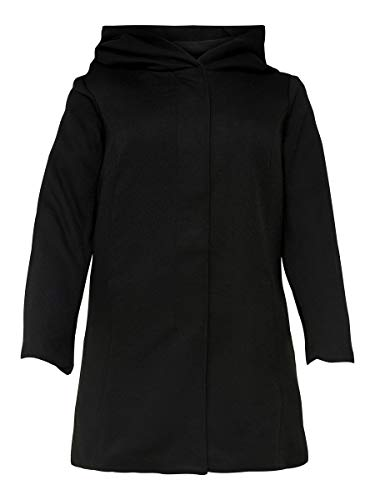 ONLY Carmakoma Damen Carsedona Light Coat OTW Mantel, Schwarz (Black Black), 50-52 Größen
