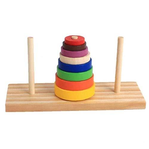 Puzzle Sovrapposizione in Legno Torre di Toy interazione Genitore-Figlio Hanoi Kid Mathematical educativi Giocattoli in anticipo Istruzione Alpinia