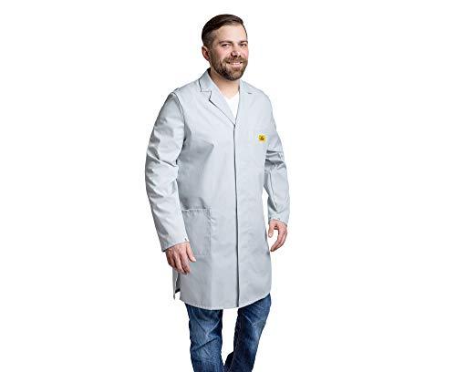 GALLUNoptimal Herren Flori Medizinische Laborkittel, Hellgrau, M