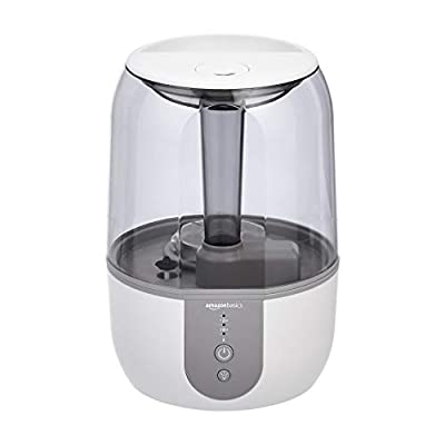 AmazonBasics Humidifier with Smart Auto-Humidification - 4-Liter, White[UK Plug]