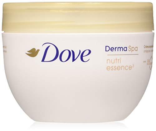Dove, Crème hydratante corps, DermaSpa, Nutri Essence³, Enrichie en huile oméga (Le pot 300ml)