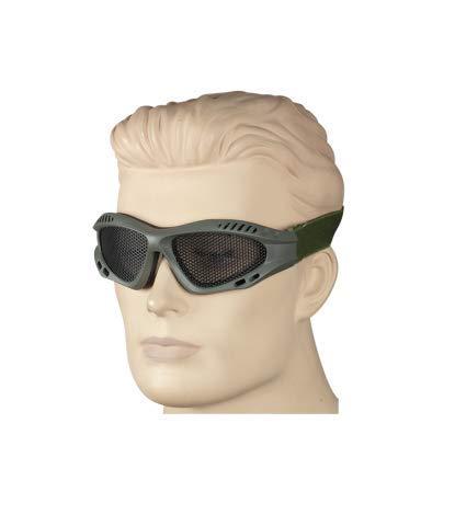 Gafas de Rejilla Verde Oscuro Ajustable tacticas, Militares, Caza, Pesca, Camping, Outdoor, Supervivencia y Bushcraft Albainox 35981 + Portabotellas de regalo