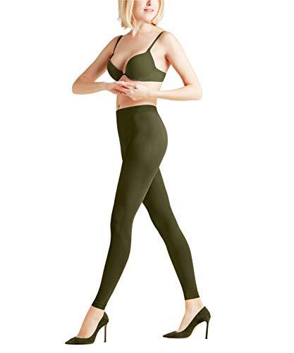 FALKE Damen Leggings Pure Matt 50 Denier - Semi-Blickdicht, Matt, 1 Stück, Grün (Military 7826), Größe: S