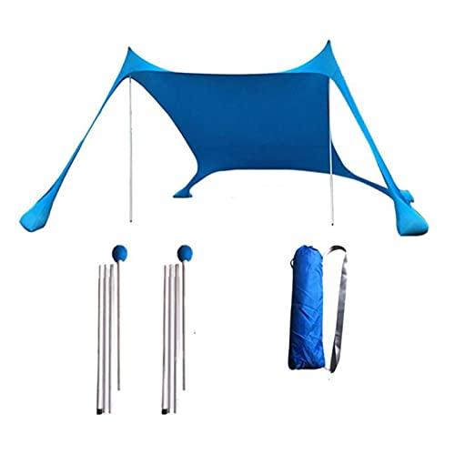 OZAQV Vela de Sombra Tiendas de Playa Las Tiendas de Sombra de Playa Son Tiendas de Sombra Ligeras con Anclajes de sandbag, adecuados para Parques y Camping al Aire Libre Bloqueador Solar