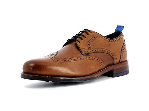 Gordon & Bros. Herren Schnürhalbschuhe Levet 5660, Männer Businessschuh, Full-Brogue Derby schnürung Business-Schuh Men,British TAN,42 EU / 8 UK