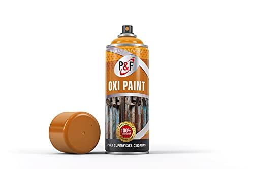 Pintura antioxidante OXIPAINT en spray para metal. P&F/Uso directo/NO NECESITA IMPRIMACIÓN/Interior - Exterior/Tratamiento superficies oxidadas.