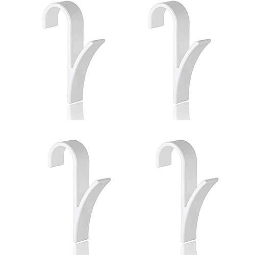 Colgador de Gancho de 4 Piezas para riel de Toalla calentado Radiador Tubular Gancho de baño Soporte Crook Grab