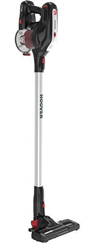 Hoover Aspirateur balai sans fil sans sac H-Free HF18 - léger - spécial maison, voiture, animaux - rouge Batterie amovible 18 V Lithium
