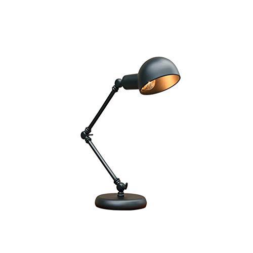 MJLOMJ Lámpara Escritorio LED Soporte Bulbo en Espiral E27, Lámpara De Brazo Giratorio Plegable, Cuerpo de la Lámpara Hierro, Puede Ser Usado para Volver a la Escuela, Lectura, Trabajo, Oficina