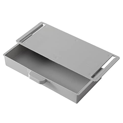 Cajón Bandeja para lápices Ocultar Escritorio Caja de almacenamiento Cajón de pasta Estuche de almacenamiento Estuche para lápices de oficina Papelería Caja de almacenamiento (gris) (gris)