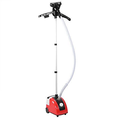 Vaporizador Vertical Plancha De Ropa Vaporizador Profesional De 1700 W con Tanque De Agua Grande De 1,7L Vaporizador para Todas Las Telas, Toda La Ropa(Rojo)