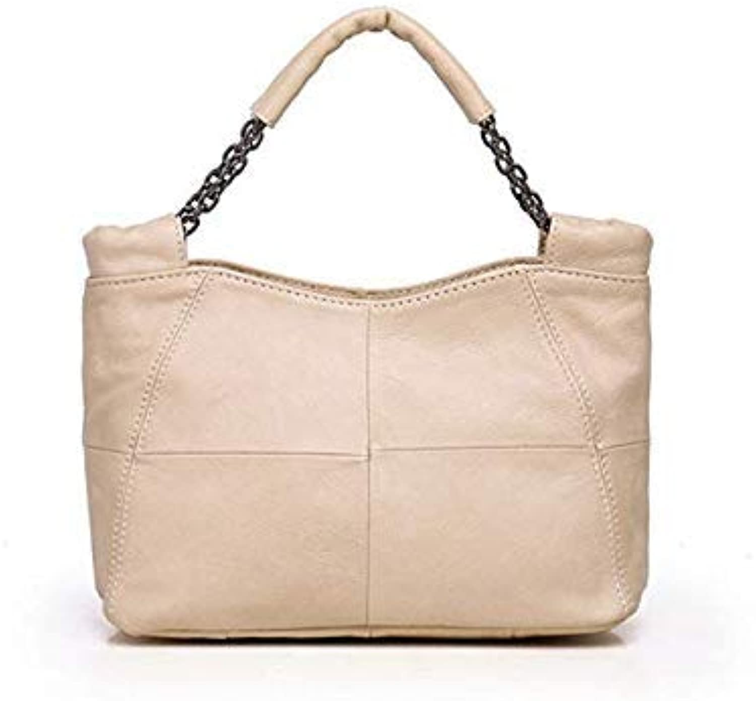 Bloomerang Hot Sale Natural Cowhide Genuine Leather Women Handbag First Layer of Cowhide Tote Luxury Brand Female 18080603 color Creamy White