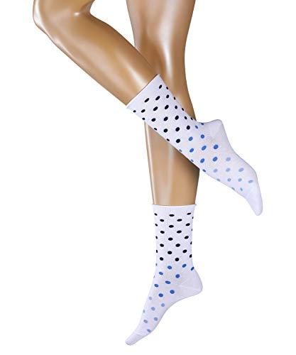 ESPRIT Damen Socken Multicolour Dot - Baumwollmischung, 1 Paar, Weiß (White 2000), Größe: 35-38