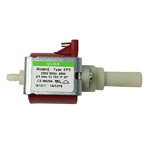 Lichtblau Pumpe Ulka EP5 48W 230V 15bar passend für Whirlpool Bauknecht 481236018581 DeLonghi 5132106900 Philips 422245945091 Wasserpumpe Kaffeevollautomat