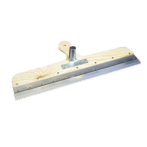 DEWEPRO® Großflächenrakel - Stehrakel gezahnt mit Steckvorrichtung - Breite: 560mm - Zahnbreite: ca. 2mm, Zahnhöhe: ca. 4mm, Zahn-Lückenbreite: ca. 4mm