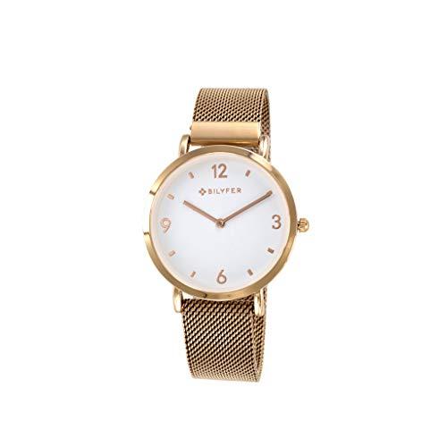 Reloj Bilyfer para Mujer con Correa en Bronce y Pantalla en Blanco 3P5556-R