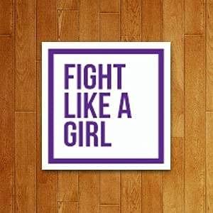 Placa Decorativa - Fight Like A Girl Lute Como Garota 27x35