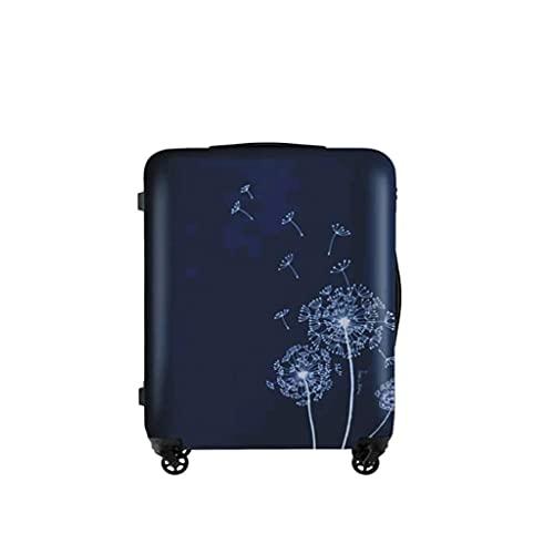 Estuche con Barra de tracción con Estampado de Diente de león, Maleta Femenina con Rueda de Freno, Estuche pequeño Fresh Suitcase (Color: Azul, Talla: A (20))
