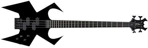 B.C.Rich Widow Bass Legacy Series - Cuerdas para bajo (4 unidades), color negro