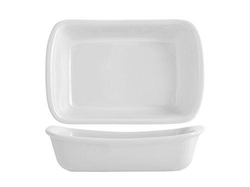 Pyrex Supreme Tegame Rettangolare, Ceramica, Bianco, 22 x 15 cm
