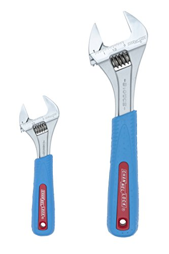 Channellock WS-2CB 2 Piece Adjustable Wrench Set | 6-inch & 10-Inch Wrench | Precise Jaw Design...