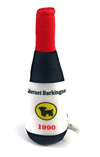 Pets at Play Juguete de peluche para perro chirriante – botella de vino tinto, Pinot Grigio, botella de cerveza, juguete de peluche para perro