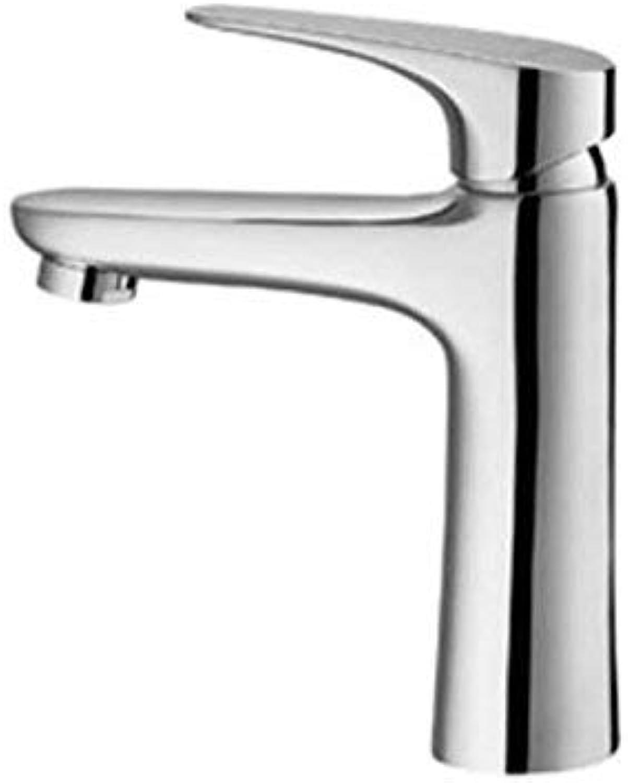 Oudan Single Hole Basin Faucet Bathroom Bathroom Cabinet Basin Faucet Copper Hot and Cold Water Ceramic Disc Spool (color   -, Size   -)