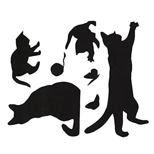 Pared del Sitio de la Mariposa del Gato Pegatina de Pared Creativo de la Etiqueta de Estar Niños extraíble La Captura de Pared de Papel de Pared de la Mariposa Pegatinas y murales