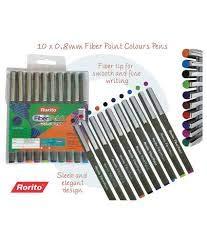 Rorito Fiberpoint Colours Pen Set of 40 Pens{10 colors} +1 Scented Pen