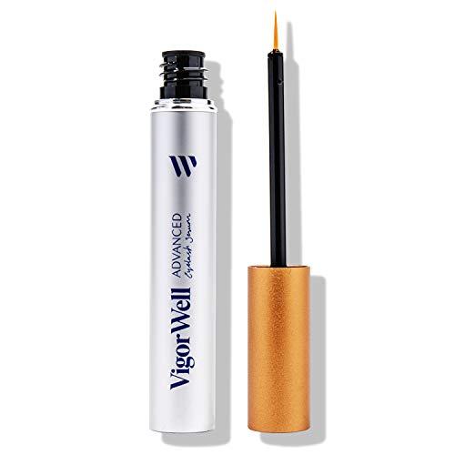 Advanced Eyelash Growth Serum by VigorWell - Achieve Longer, Thicker Eyelash and Eyebrow in 4 Weeks! Irritation-Free & Nourishing Formula, Proven Results