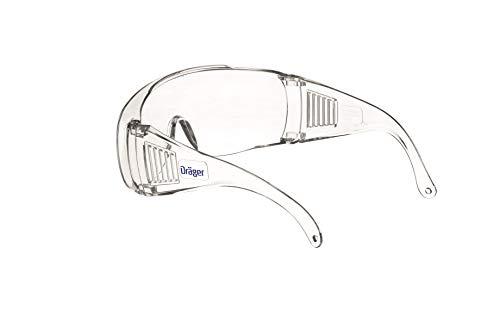 Dräger Schutzbrille X-pect 8110   Überbrille auch für Brillenträger   Für Baustelle, Labor, Werkstatt und Fahrrad-Fahren   Leicht, klar und mit indirekter Belüftung   1 St. - 4