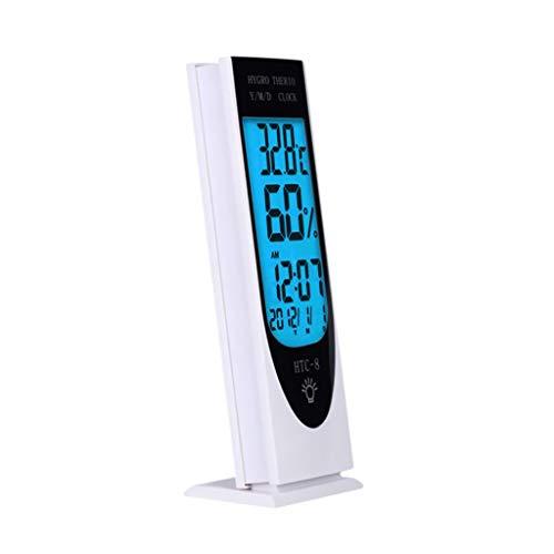 YUTRD ZCJUX Higrómetro LCD Digital de Alta precisión Humedad Termómetro Termómetro Temperatura Reloj