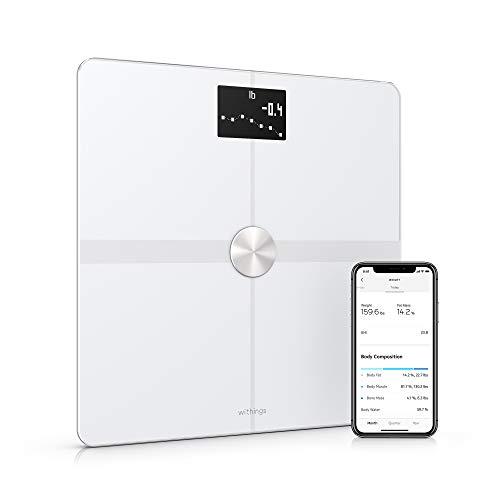 Withings Body+ Báscula inteligente con conexión Wi-Fi, medición de la grasa corporal,...