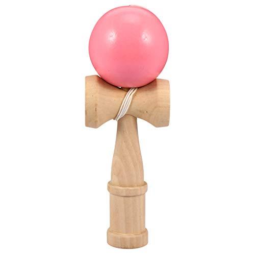 BESPORTBLE Kendama Spielzeug Holz Japanisches Traditionelles Holz-Spielzeug Kugel-Spiel Geschicklichkeits-Spiel für Anfänger Geschenk Kinder Pädagogisch Spielzeug (Rosa)