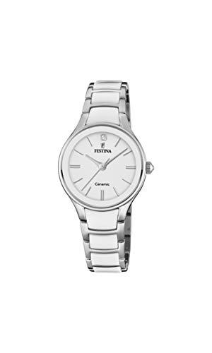 Festina Damen Analog Quarz Uhr mit Edelstahl Armband F20474/1