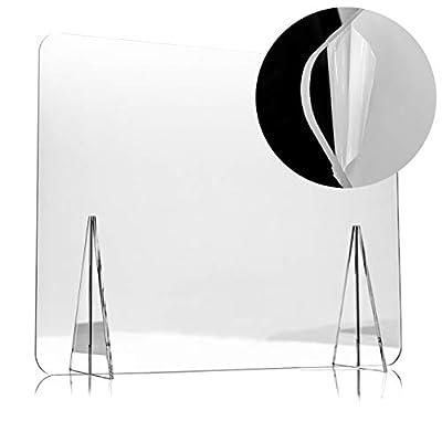 ¡Utiliza las mamparas para protegerte a ti mismo y protegerse a tus compañeros y clientes! La mampara de sobremesa tiene una estabilidad perfecta para colocar en cualquier superficie plana, ideal para el escritorio de OFICINA, y la mesa de BAR, CAFET...