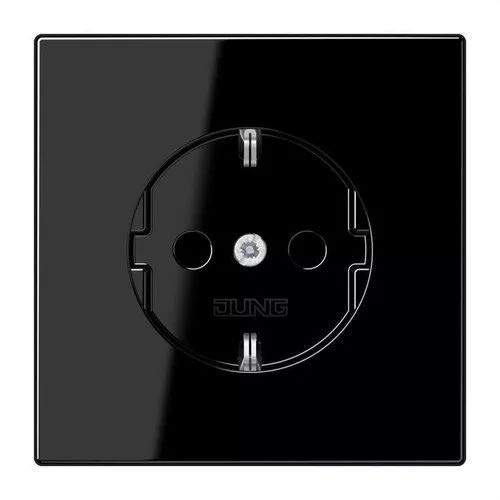 JUNG LS1521KISW Schuko-stopcontact, 16 A/250 V, zwart